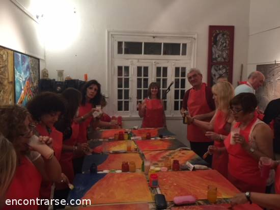 Encuentros Grupales (27/01/2018) :   Paint Night - pizza, tragos y amigos